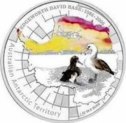Australia 1 Dollar Edgeworth David Base 2006 P Proof KM# 1019 EDGEWORTH DAVID BASE: 1986-2006 AUSTRALIAN ANTARCTIC TERRITORY 1 OZ 99.9 SILVER coin reverse