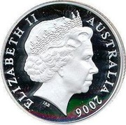 Australia 1 Dollar Fifty Years of Australian Television 2006 KM# 805A ELIZABETH II AUSTRALIA 2006 IRB coin obverse
