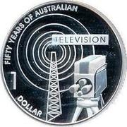 Australia 1 Dollar Fifty Years of Australian Television 2006 KM# 805A FIFTY YEARS OF AUSTRALIAN TELEVISION 1 DOLLAR coin reverse