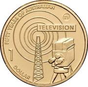 Australia 1 Dollar Fifty Years of Australian Television 2006 KM# 805 FIFTY YEARS OF AUSTRALIAN TELEVISION © 1 DOLLAR coin reverse