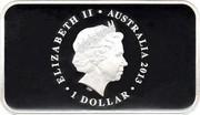 Australia 1 Dollar First Banknote 2013 KM# 2092 ELIZABETH II AUSTRALIA 2013 1 DOLLAR IRB coin obverse