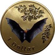 Australia 1 Dollar Flying Fox 2011 KM# 1647 1 DOLLAR coin reverse