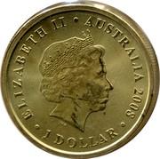 Australia 1 Dollar Frilled-Neck Lizard 2008 KM# 1170 ELIZABETH II AUSTRALIA 2008 1 DOLLAR IRB coin obverse