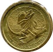 Australia 1 Dollar Frilled-Neck Lizard 2008 KM# 1170 FRILLED NECK LIZARD P WR coin reverse
