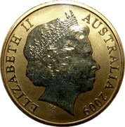 Australia 1 Dollar Frilled-Neck Lizard 2009 KM# 1656 ELIZABETH II AUSTRALIA 2009 IRB coin obverse