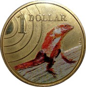 Australia 1 Dollar Frilled-Neck Lizard 2009 KM# 1656 1 DOLLAR coin reverse