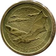 Australia 1 Dollar Ghost Bat 2008 KM# 1090 GHOST BAT P WR coin reverse