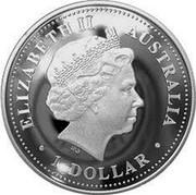 Australia 1 Dollar Gold Coas 2007 KM# 945 ELIZABETH II AUSTRALIA 1 DOLLAR IRB coin obverse
