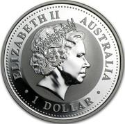 Australia 1 Dollar Golden Pipeline 2003 KM# 824 ELIZABETH II AUSTRALIA 1 DOLLAR IRB coin obverse