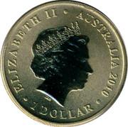 Australia 1 Dollar Grasshopper 2010 KM# 1445 ELIZABETH II AUSTRALIA 2010 1 DOLLAR IRB coin obverse