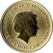Australia 1 Dollar Green Turtle 2008 KM# 1176 ELIZABETH II AUSTRALIA 2008 1 DOLLAR IRB coin obverse