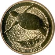 Australia 1 Dollar Green Turtle 2008 KM# 1176 GREEN TURTLE P DB coin reverse