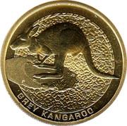 Australia 1 Dollar Grey Kangaroo 2008 KM# 1171 GREY KANGAROO P JG coin reverse