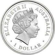 Australia 1 Dollar Hobart 2008 KM# 1021 ELIZABETH II AUSTRALIA 1 DOLLAR IRB coin obverse