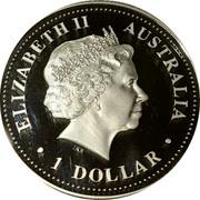 Australia 1 Dollar HRH Prince William of Wales 21st Birthday 2003 KM# 685 ELIZABETH II AUSTRALIA 1 DOLLAR IRB coin obverse