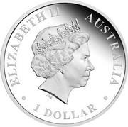 Australia 1 Dollar Husky 2010 KM# 1381 ELIZABETH II AUSTRALIA 1 DOLLAR IRB coin obverse