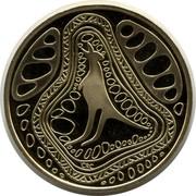 Australia 1 Dollar Indigenous Kangaroo 2005 KM# 835 CRC coin reverse
