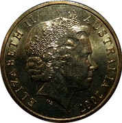 Australia 1 Dollar International Polar Year 2007 KM# 1653 ELIZABETH II AUSTRALIA 2007 IRB coin obverse
