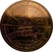 Australia 1 Dollar International Polar Year 2007 KM# 1653 AUSTRALIAN ANTARCTIC TERRITORY 1 DOLLAR MAWSON DAVIS CASEY INTERNATIONAL POLAR YEAR 2007-2008 90°W 0° 90°E coin reverse