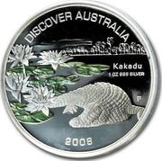 Australia 1 Dollar Kakadu 2008 KM# 1182 DISCOVER AUSTRALIA KAKADU 1 OZ 999 SILVER 2008 P JR coin reverse