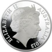 Australia 1 Dollar Kangaroo 2013 KM# 2030 ELIZABETH II AUSTRALIA 2013 IRB coin obverse