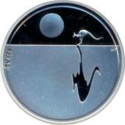 Australia 1 Dollar Kangaroo at Sunset 2014 KM# 2005 .999 AG coin reverse