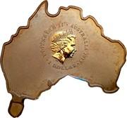 Australia 1 Dollar Kangaroo (Map Shaped) 2013 KM# 1929 ELIZABETH II AUSTRALIA 2013 1 DOLLAR IRB coin obverse