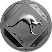 Australia 1 Dollar Kangaroo Road Sign 2013 KM# 1953 1 OZ .999 AG WP coin reverse