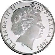 Australia 1 Dollar Kangaroos 2004 B Proof KM# 489a ELIZABETH II AUSTRALIA 2004 IRB coin obverse