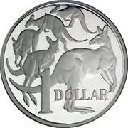 Australia 1 Dollar Kangaroos 2004 B Proof KM# 489a 1 DOLLAR coin reverse