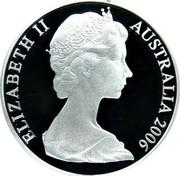 Australia 1 Dollar Kangaroos 2006 KM# 77a ELIZABETH II AUSTRALIA 2006 IRB coin obverse
