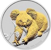 Australia 1 Dollar Koala 2010 KM# 1464a 1 OZ 999 SILVER P WR coin reverse
