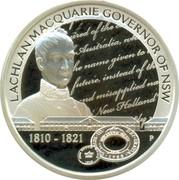 Australia 1 Dollar Lachen Macquarie 2010 KM# 1324 LACHLAN MACQUARIE GOVERNOR OF NSW 1810-1821 P coin reverse