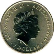 Australia 1 Dollar Ladybird 2010 KM# 1446 ELIZABETH II AUSTRALIA 2010 1 DOLLAR IRB coin obverse