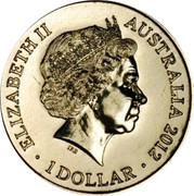 Australia 1 Dollar Lunar Dragon 2012 KM# 1680b ELIZABETH II AUSTRALIA 2012 1 DOLLAR IRB coin obverse