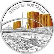 Australia 1 Dollar Melbourne 2006 KM# 940 DISCOVER AUSTRALIA MELBOURNE 1 OZ 999 SILVER 2006 P JR coin reverse