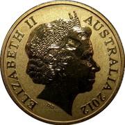 Australia 1 Dollar Orangutan 2012 KM# 1860 ELIZABETH II AUSTRALIA 2012 coin obverse