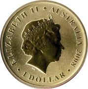 Australia 1 Dollar Platypus 2008 KM# 1177 ELIZABETH II AUSTRALIA 2008 1 DOLLAR IRB coin obverse