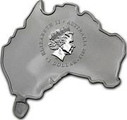 Australia 1 Dollar Platypus (Map Shaped) 2013 KM# 2070 ELIZABETH II AUSTRALIA 2013 1 DOLLAR IRB coin obverse