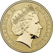 Australia 1 Dollar Polar Series - Walrus 2013 KM# 1948 ELIZABETH II AUSTRALIA 2013 IRB coin obverse