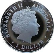 Australia 1 Dollar Prince Henry of Wales 21st Birthday 2005 KM# 836 ELIZABETH II AUSTRALIA 1 DOLLAR IRB coin obverse