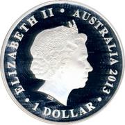 Australia 1 Dollar Queen Victoria 175th Anniversary of Coronation 2013 KM# 1930 ELIZABETH II AUSTRALIA 2013 1 DOLLAR IRB coin obverse