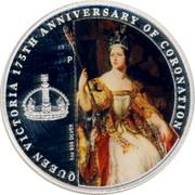 Australia 1 Dollar Queen Victoria 175th Anniversary of Coronation 2013 KM# 1930 QUEEN VICTORIA 175TH ANNIVERSARY OF CORONATION 1 OZ 999 SILVER P coin reverse