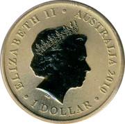 Australia 1 Dollar Redback Spider 2010 KM# 1448 ELIZABETH II AUSTRALIA 2010 1 DOLLAR IRB coin obverse
