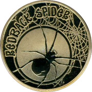Australia 1 Dollar Redback Spider 2010 KM# 1448 REDBACK SPIDER P EM coin reverse