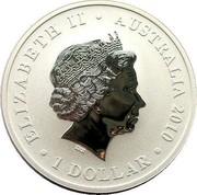 Australia 1 Dollar Shanghai World Expo 2010 KM# 1391 ELIZABETH II AUSTRALIA 2010 1 DOLLAR IRB coin obverse