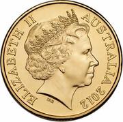 Australia 1 Dollar Sir Douglas Mawson 2012 KM# 1861 ELIZABETH II AUSTRALIA 2012 IRB coin obverse