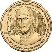 Australia 1 Dollar Sir Douglas Mawson 2012 KM# 1861 INSPIRATIONAL AUSTRALIANS: SCIENTIFIC RESEARCH SIR DOUGLAS MAWSON 1882-1958 1 DOLLAR WP coin reverse