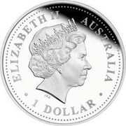 Australia 1 Dollar South Magnetic Pole 2009 KM# 1211 ELIZABETH II AUSTRALIA 1 DOLLAR IRB coin obverse