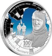 Australia 1 Dollar South Magnetic Pole 2009 KM# 1211 SOUTH MAGNETIC POLE : 1909-2009 AUSTRALIAN ANTARCTIC TERRITORY 100 YEARS 1 OZ 99.9 SILVER P SB coin reverse